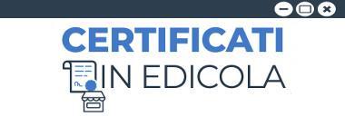 Edicole Certificati anagrafici e di stato civile online 380 ant